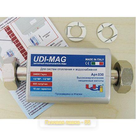 Магнитный преобразователь воды UDI-MAG проточного типа, арт. 030 (Италия)